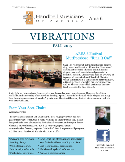 Fall 2015 Area 6 Newsletter